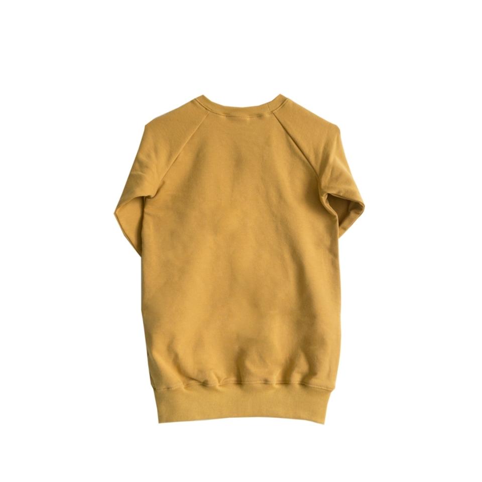 Sweaterjurk Ondeugd oker geel achterkant