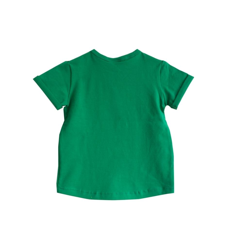 T-shirt Charmeur grasgroen achterkant