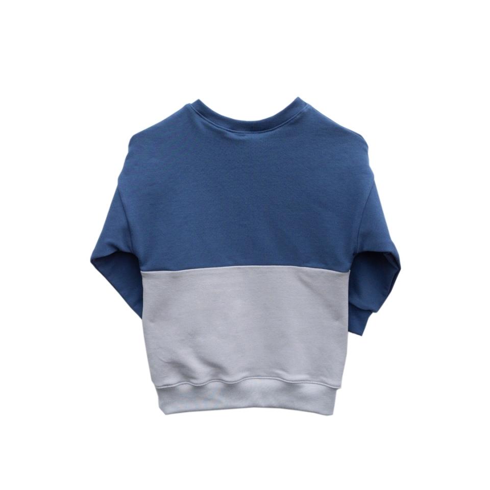 Twee kleuren sweater achterkant