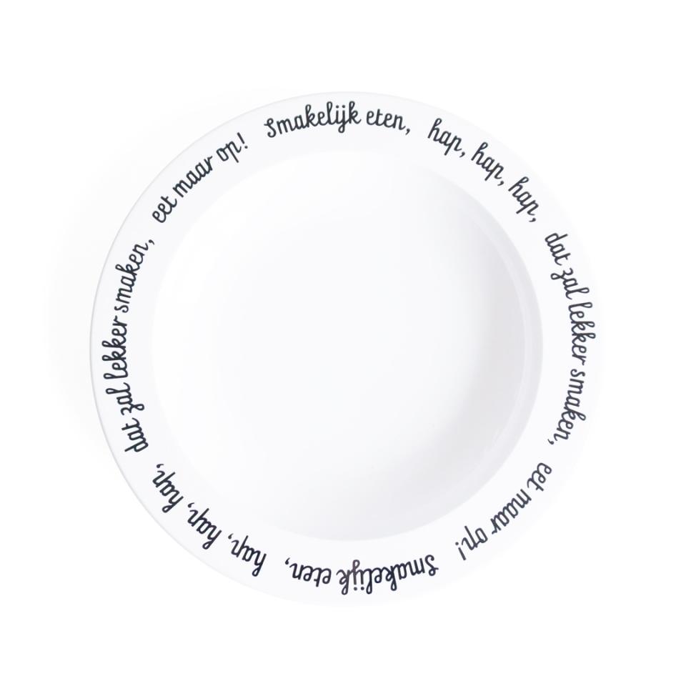 Bord Smakelijk eten bovenzijde