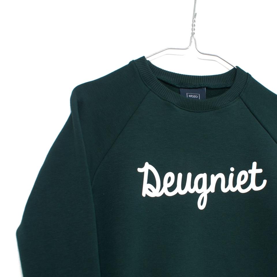 Sweater Deugniet donkergroen close-up