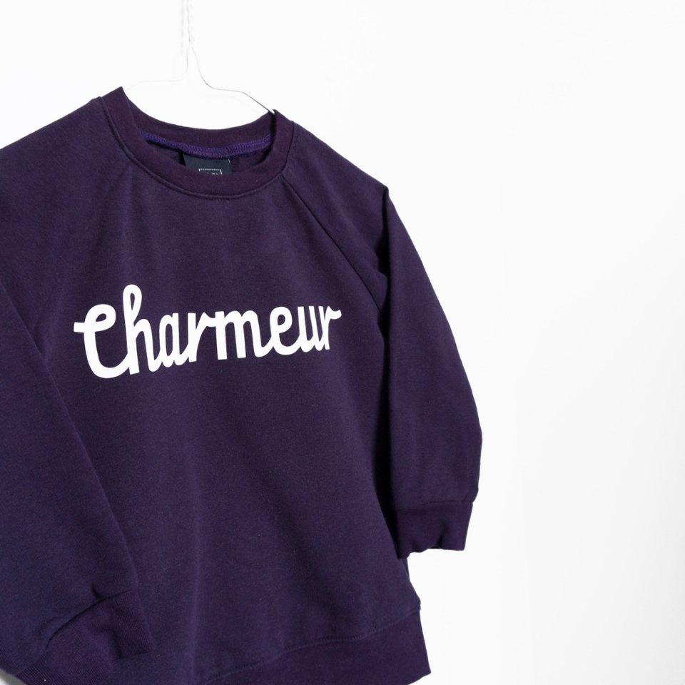 Sweater Charmeur paars close-up