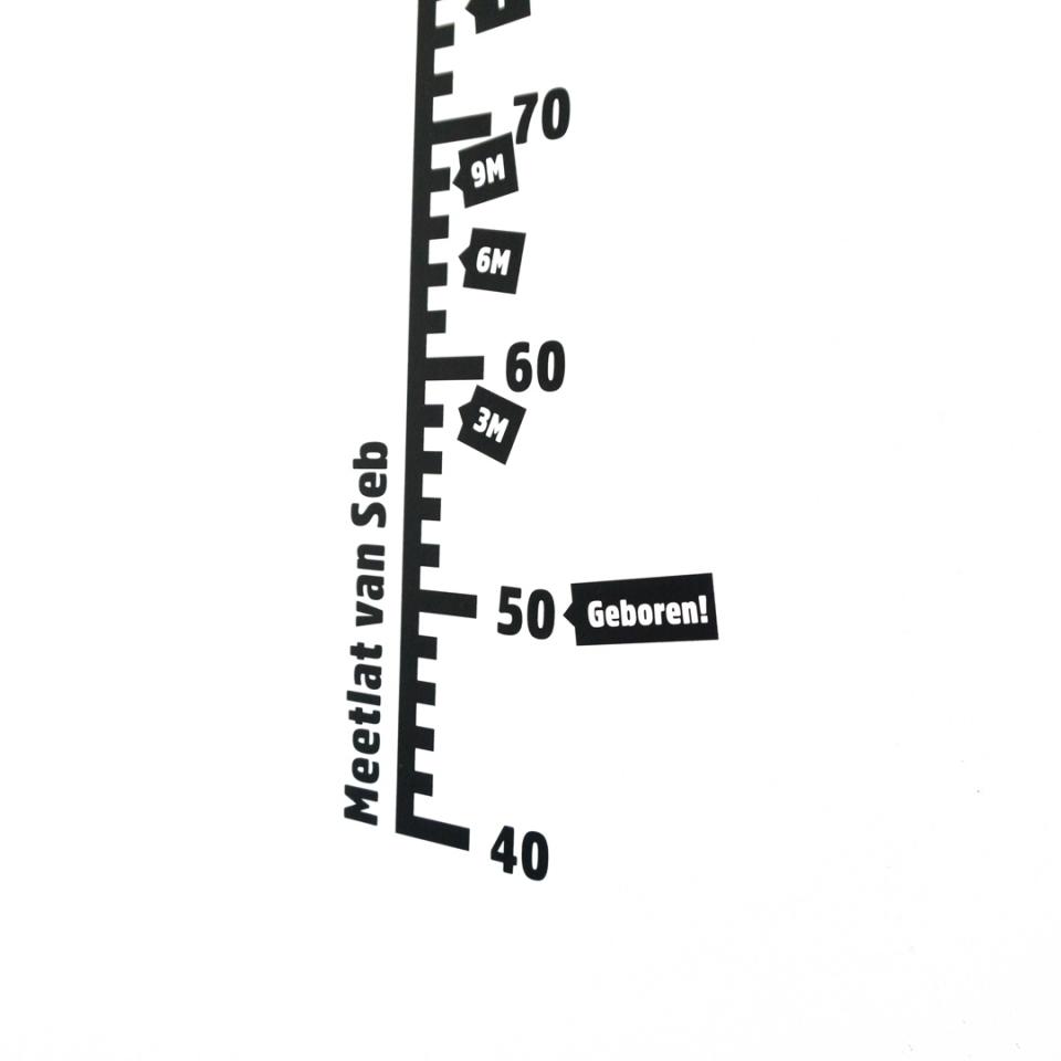 Meetlat met naam en leeftijd stickers