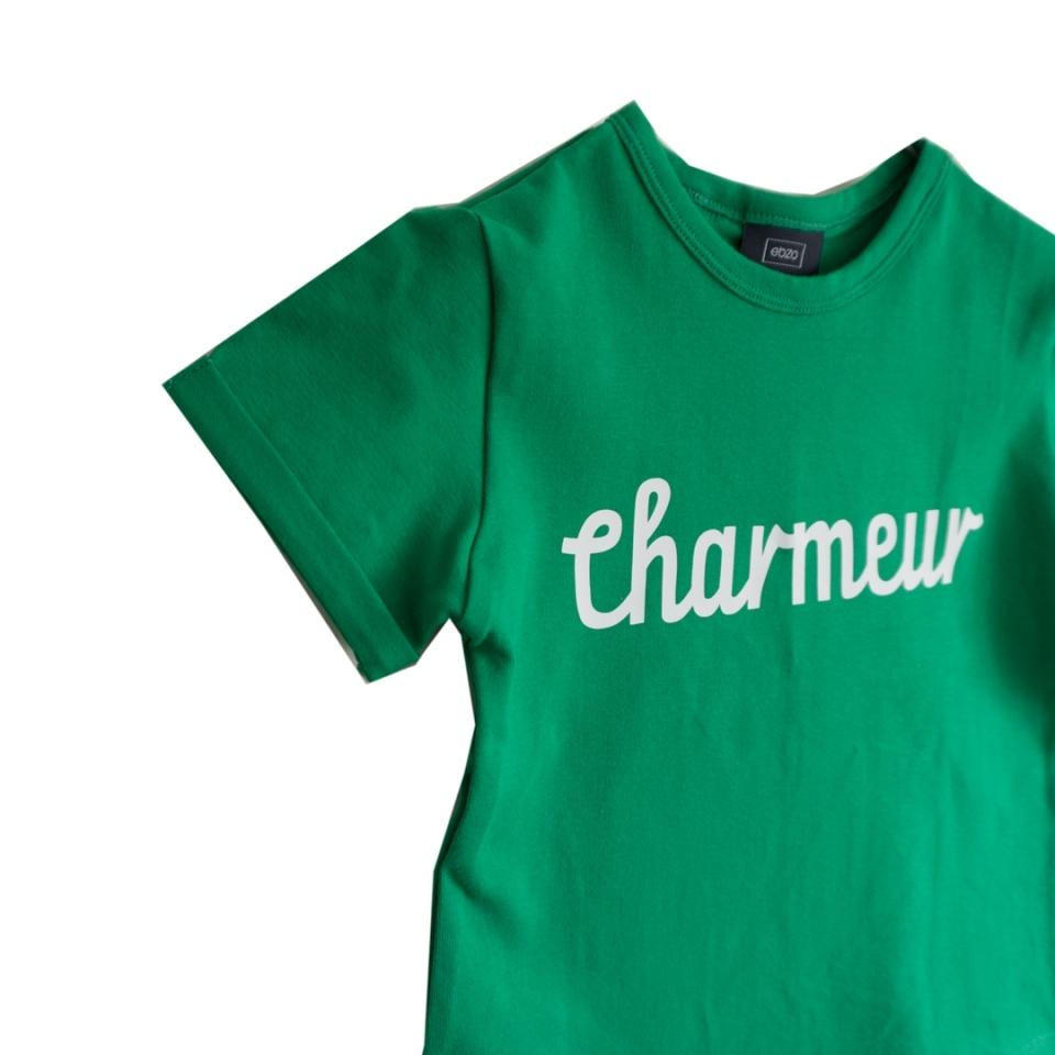 T-shirt Charmeur grasgroen close