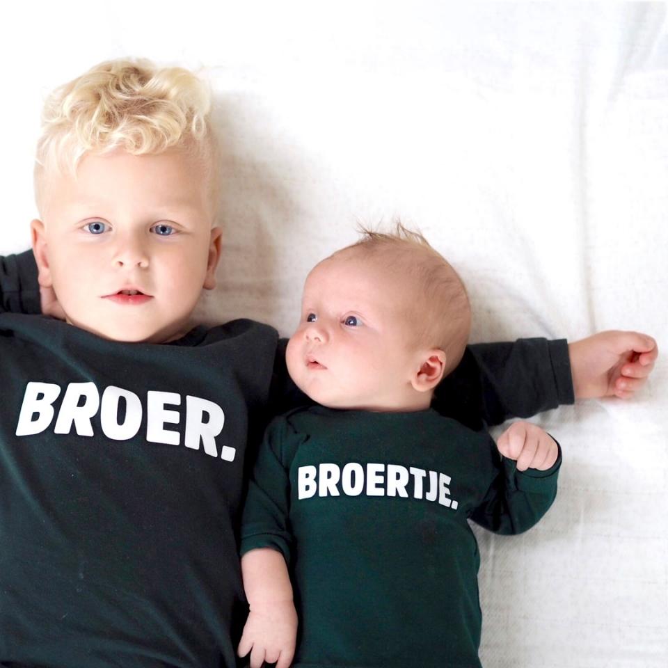Broertje/zusje shirt sfeer