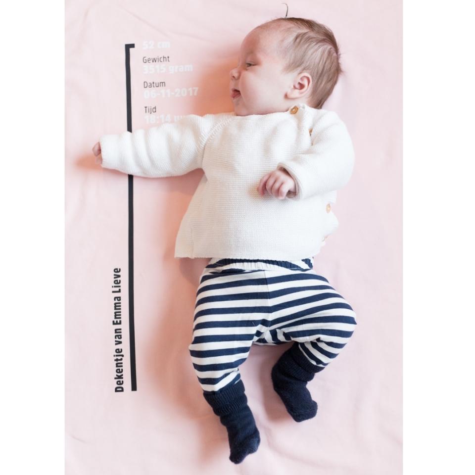 Geboorte dekentje sfeer
