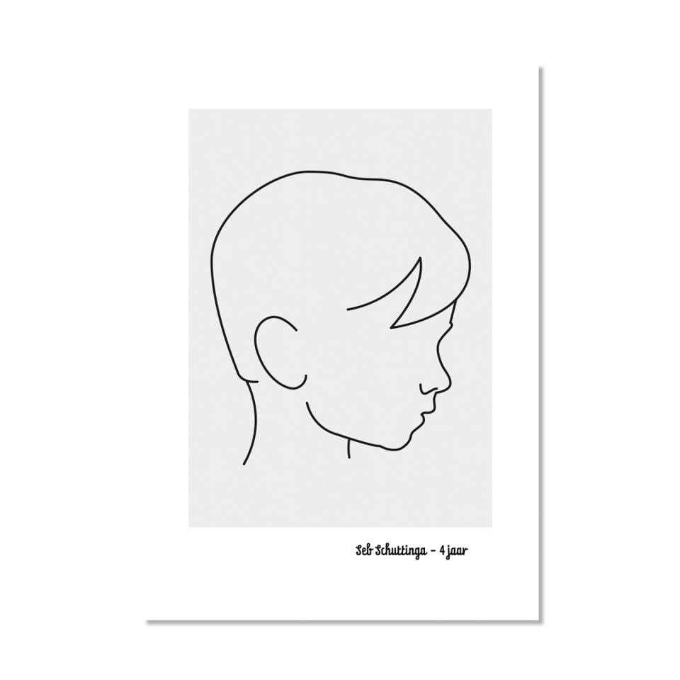 Profiel poster A4 voor