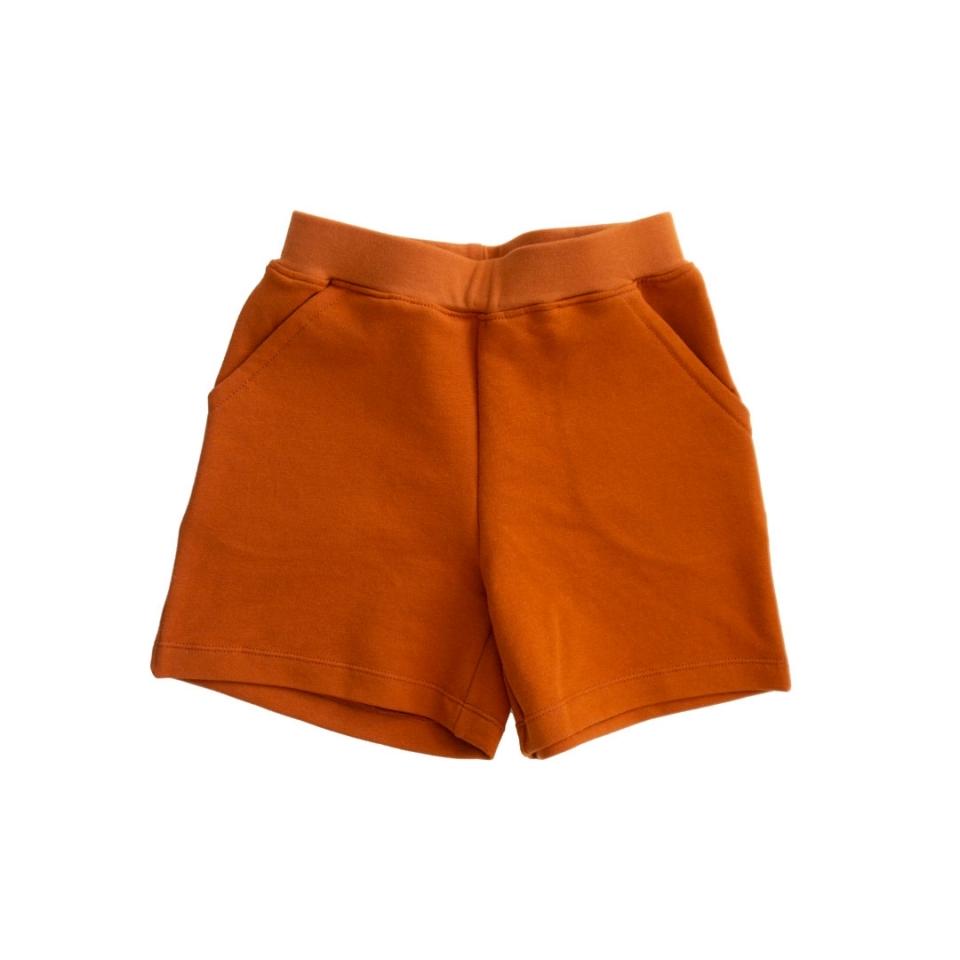 Korte broek rechte zakken voorkant