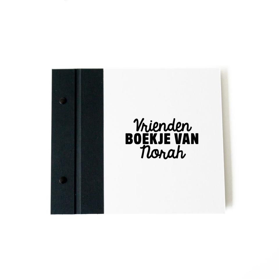 Vriendenboekje wit voorkant