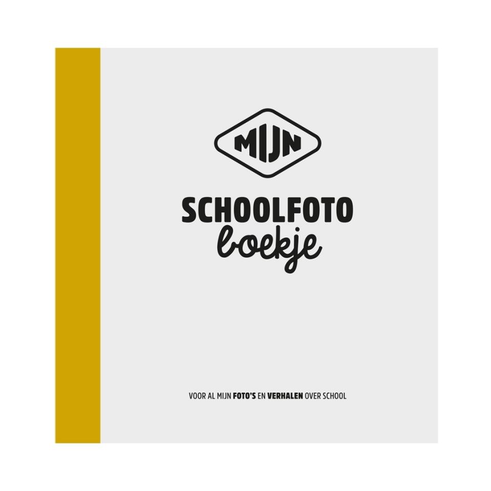 Schoolfotoboekje Geel voorkant