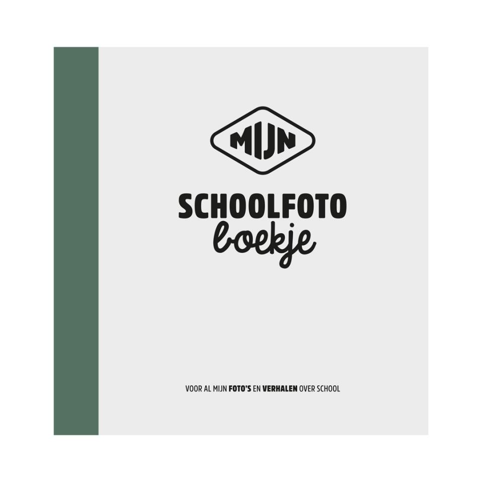 Schoolfotoboekje Groen voorkant