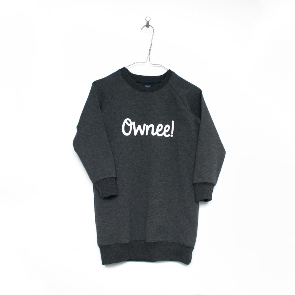 Sweaterjurk grijs Ownee!