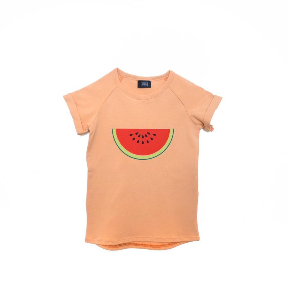 T-shirt meloen oranje