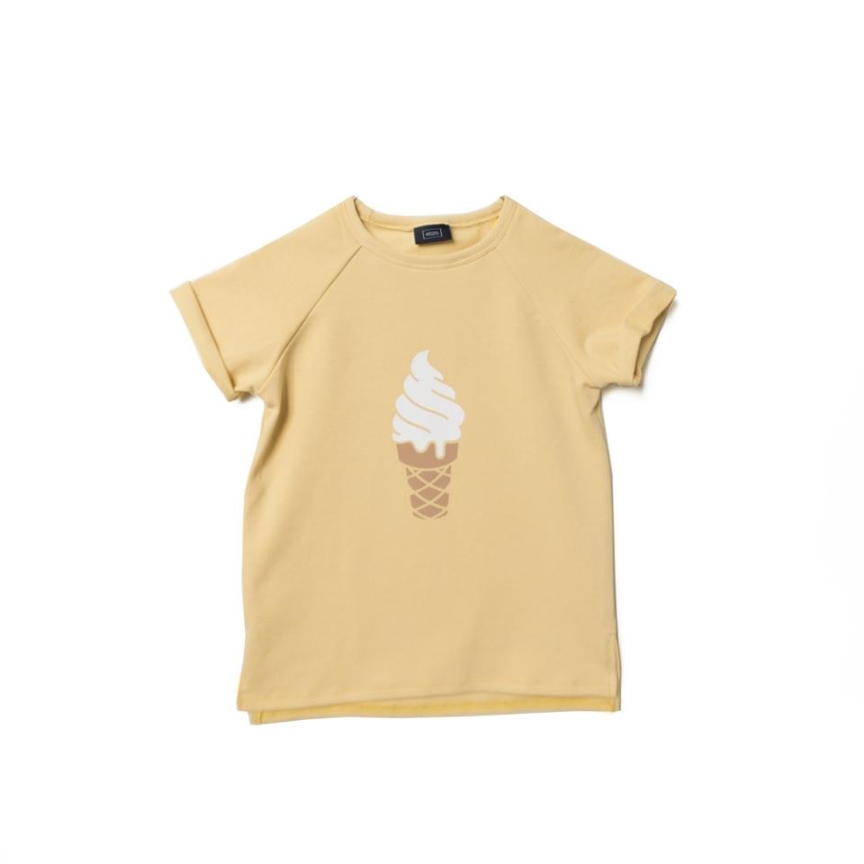 Zomersweater ijsje pastel geel