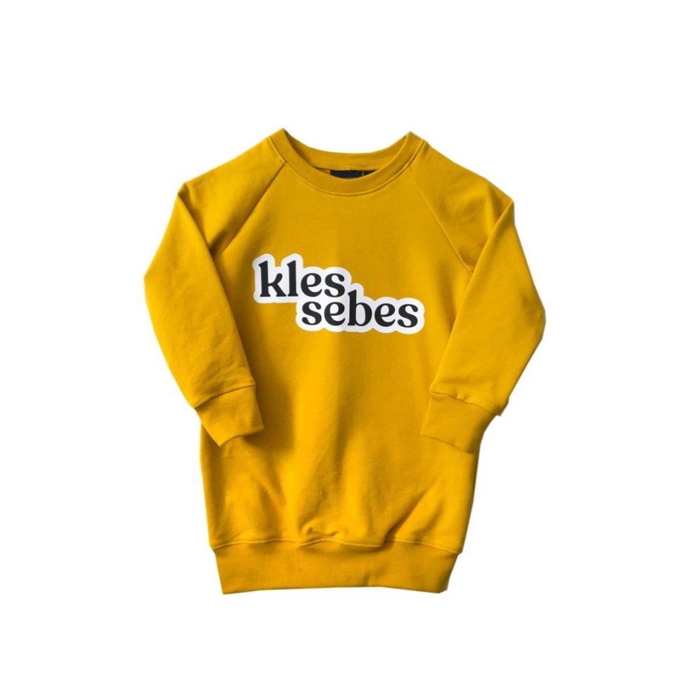 Sweaterjurk Klessebes licht grijs (110/116) voorkant