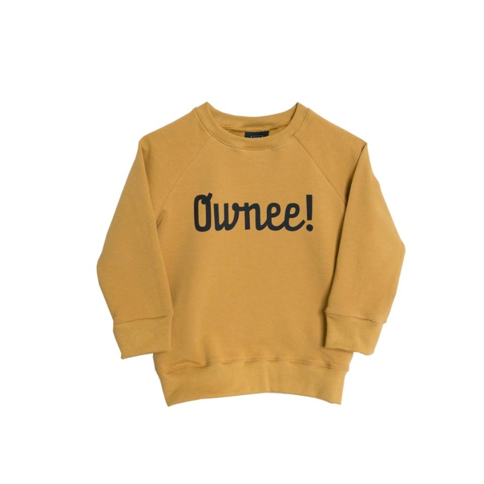 Ownee sweater okergeel (74/80) voorkant