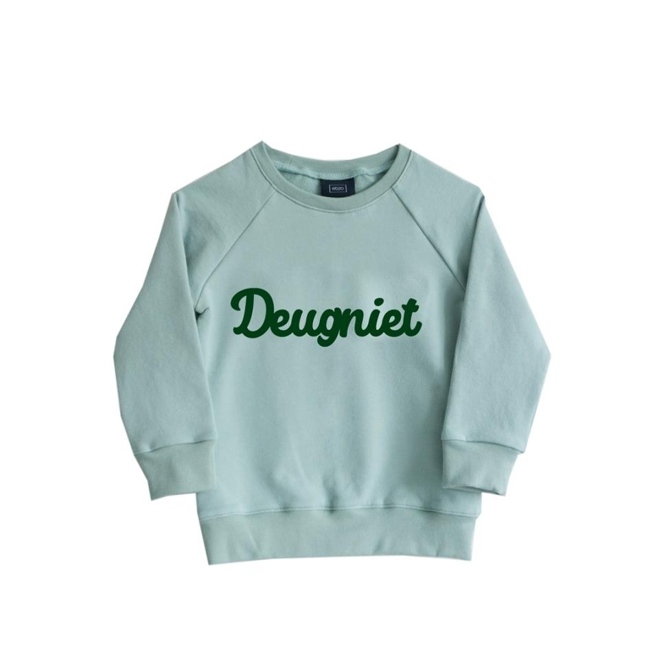 Sweater Deugniet mint (74/80) voorkant