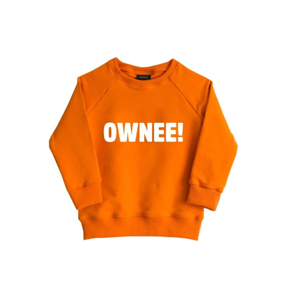 Sweater Ownee! oranje (74/80)