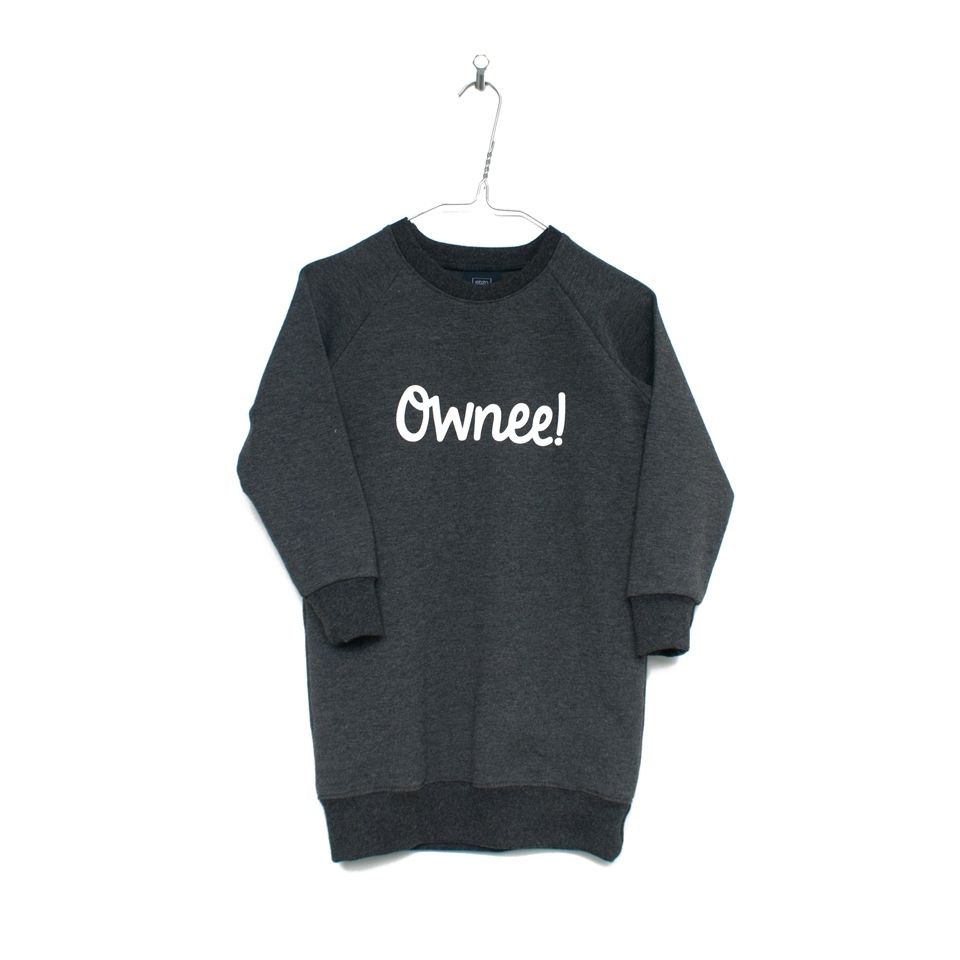 Sweaterjurk Ownee! grijs