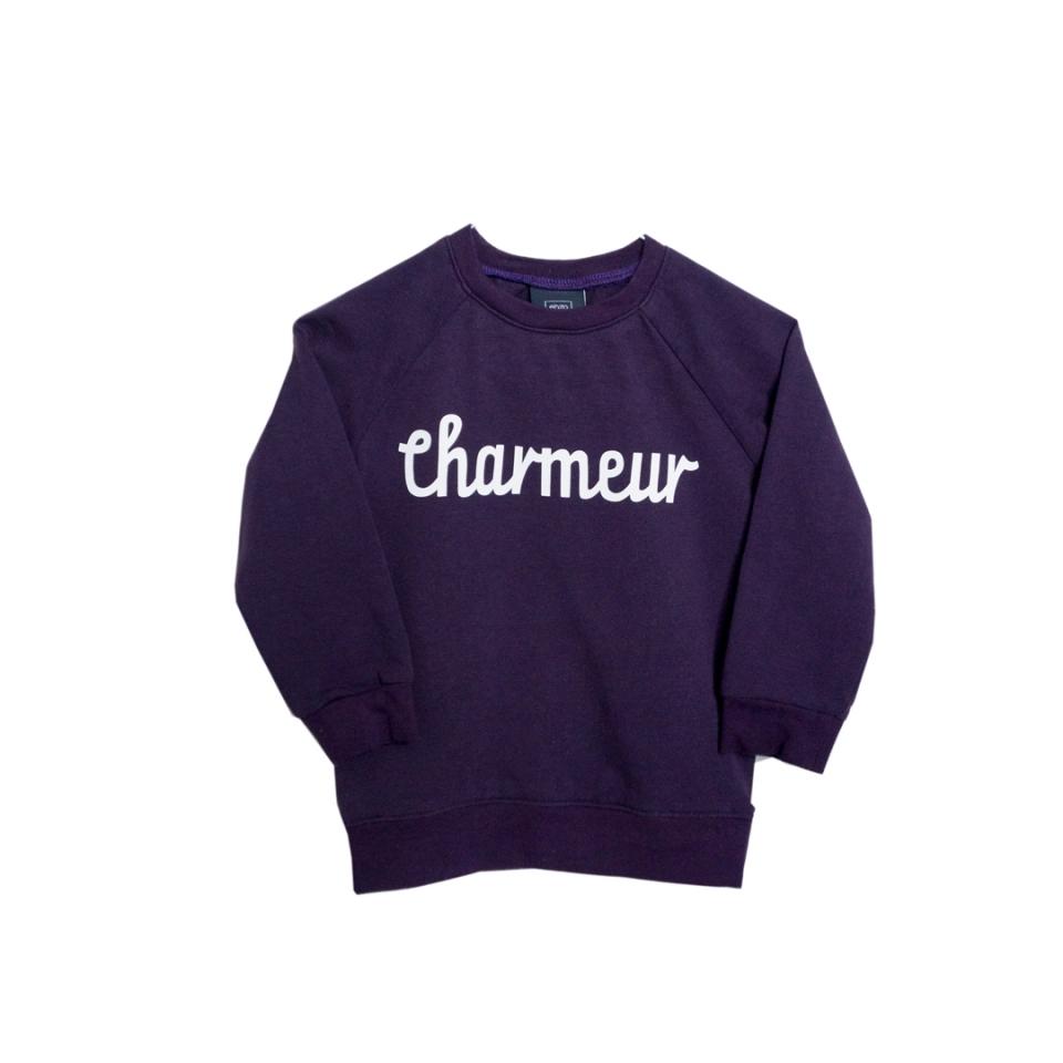 Sweater Charmeur paars voorzijde