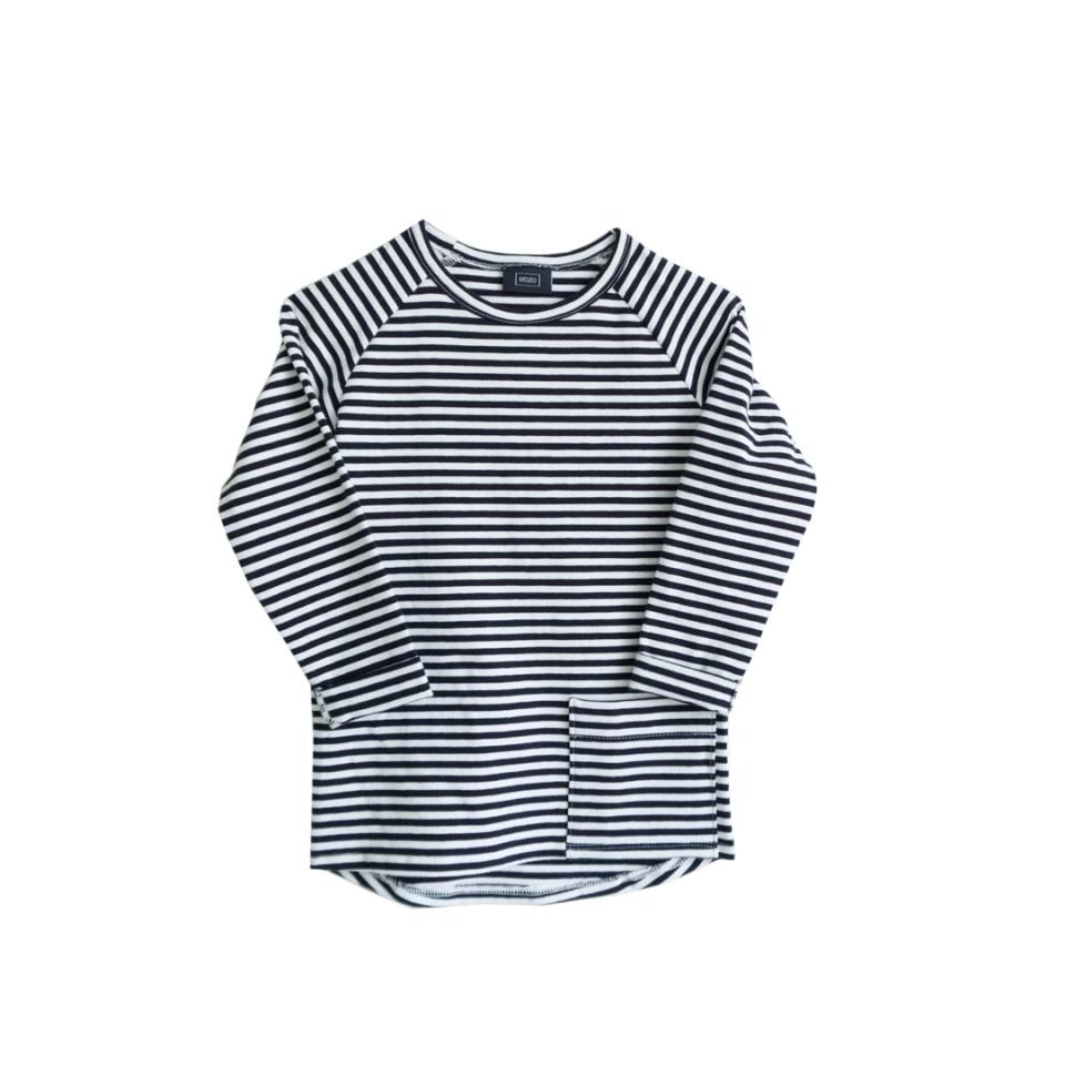 Shirt longline zwart gestreept voorzijde